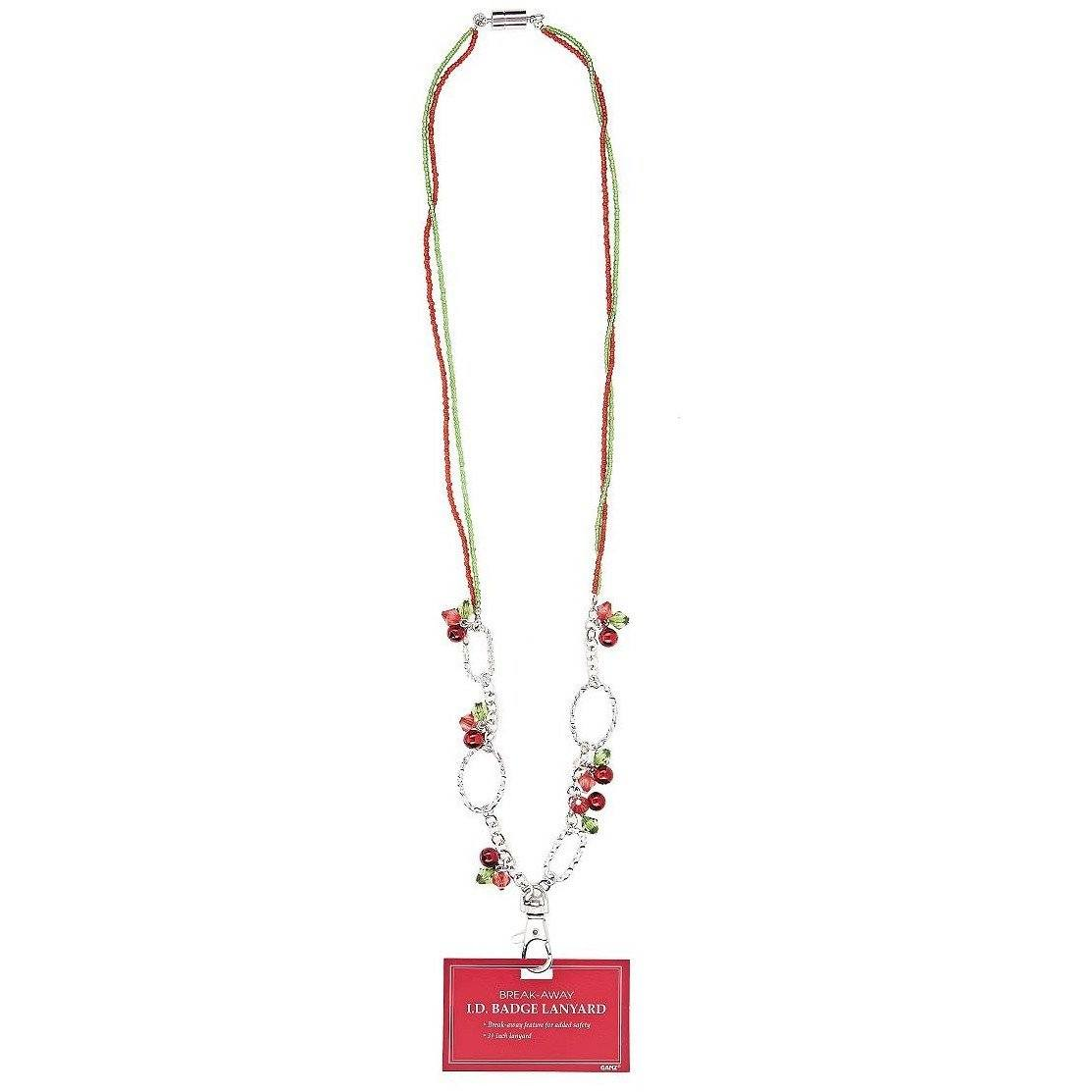 Jingle Bells Breakaway ID Badge Holder Necklace - Style 2