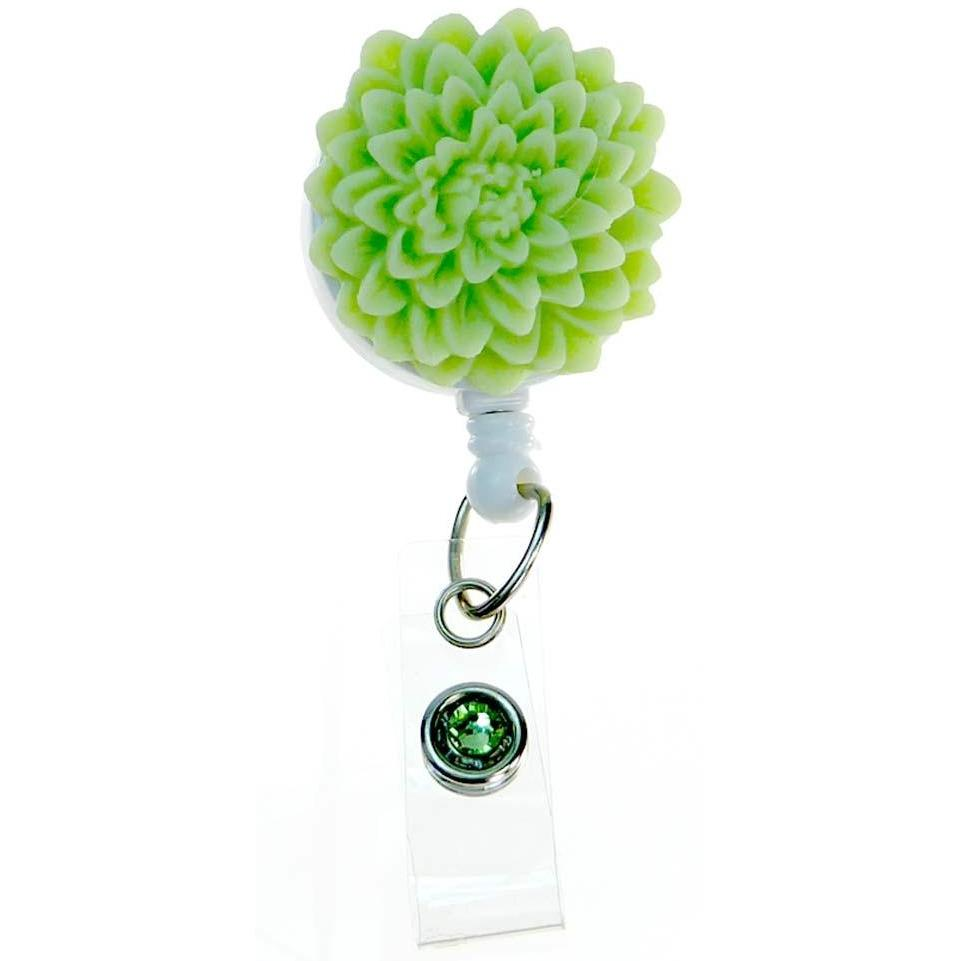 Badge Blooms ID Badge Reel - Flower - Lime Sorbet