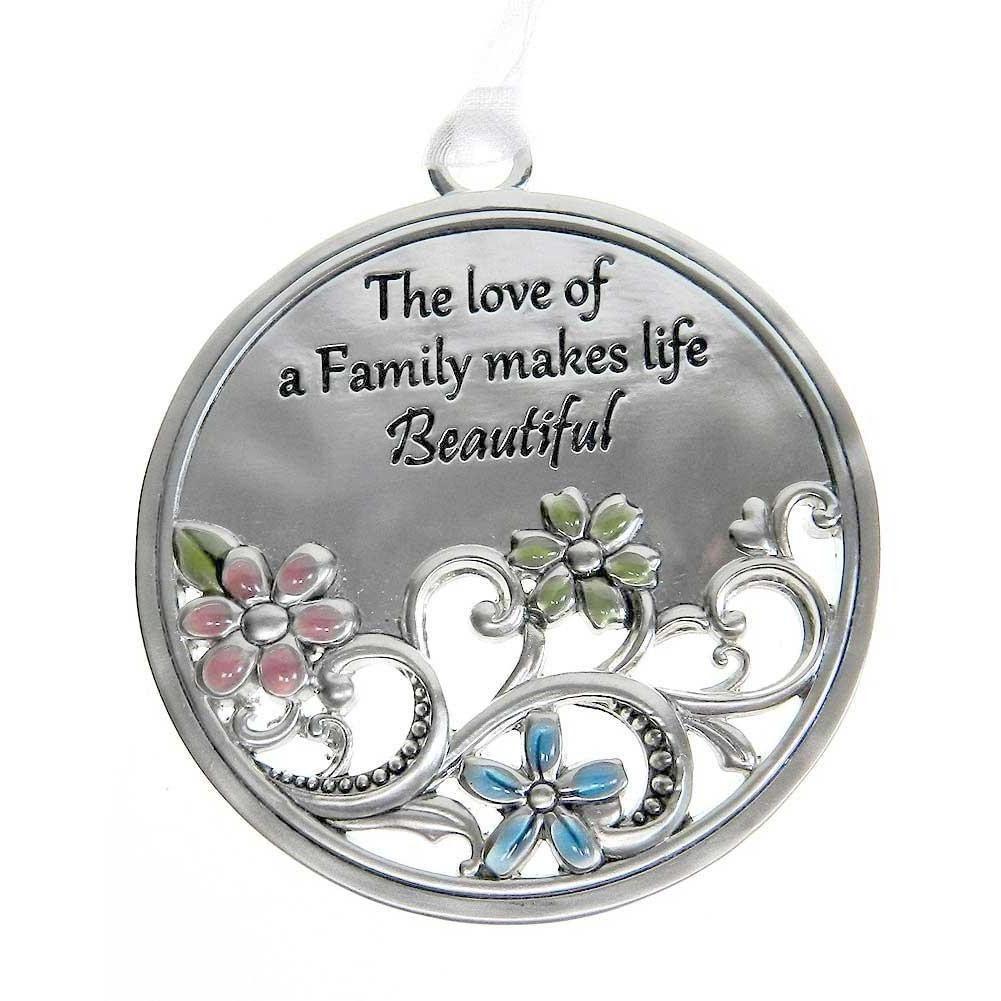 Love Garden Ornament-Car Charm - The love of a Family makes life Beautiful