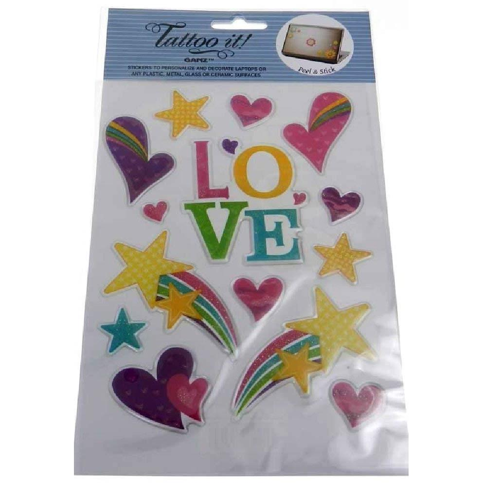 Colorful Glitter Stickers - Love