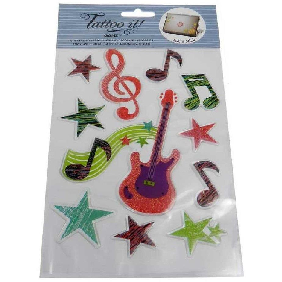 Colorful Glitter Stickers - Music Lover