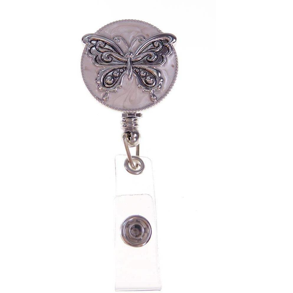 Opalescent ID Badge Reel - Butterfly