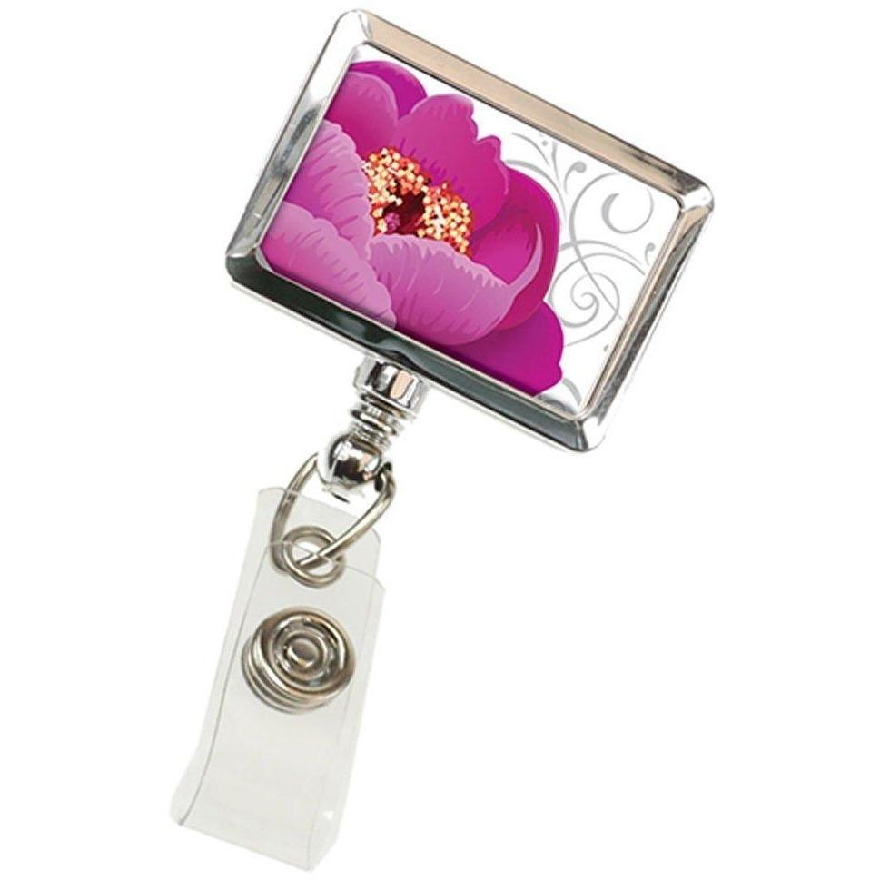 ID Badge Reel by BooJee - Peony