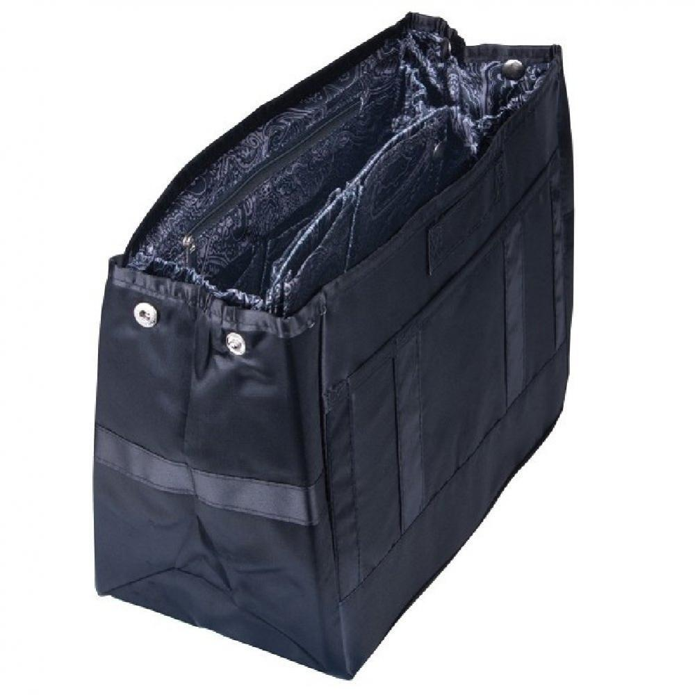 Pursfection TOTE Organizer - Black-Paisly