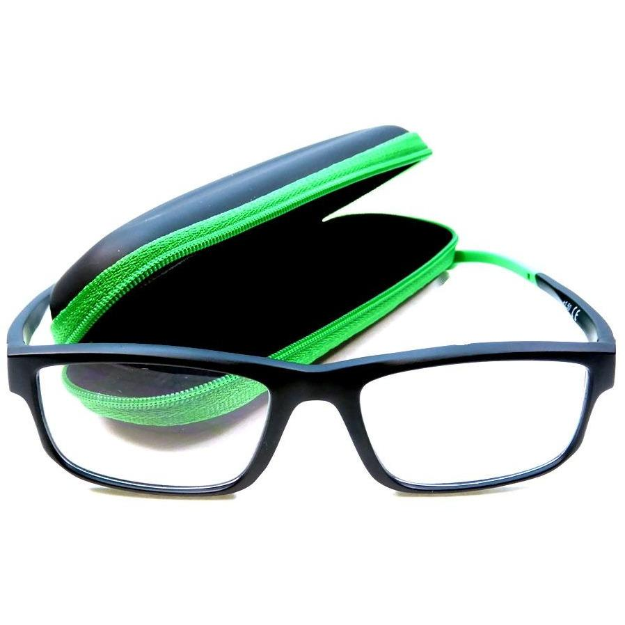 Reading Glasses - +2.5- Green-Black - with Case