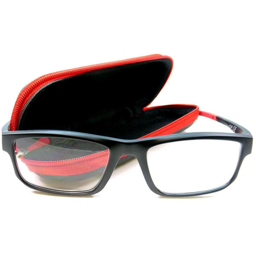 Reading Glasses - +2.0- Red-Black - with Case