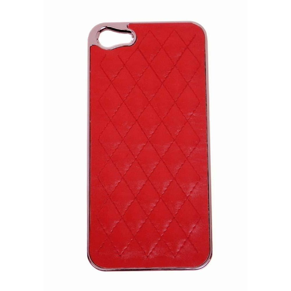 Quilted iphone case for iphone 5 - Red