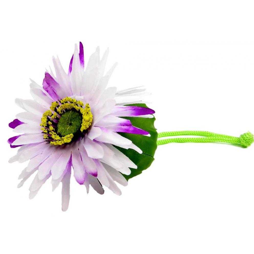 Flower Re-usable Shoppers - Purple-White