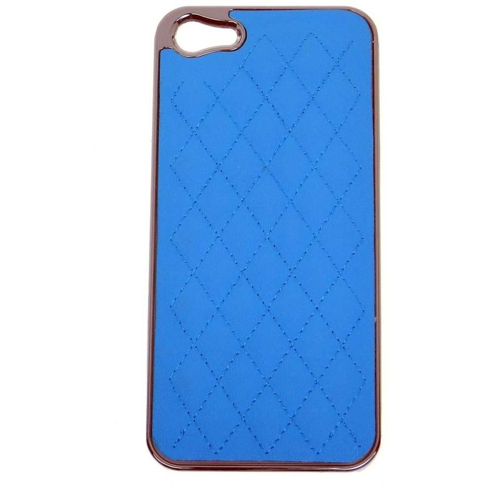 Quilted iphone case for iphone 5 - Blue