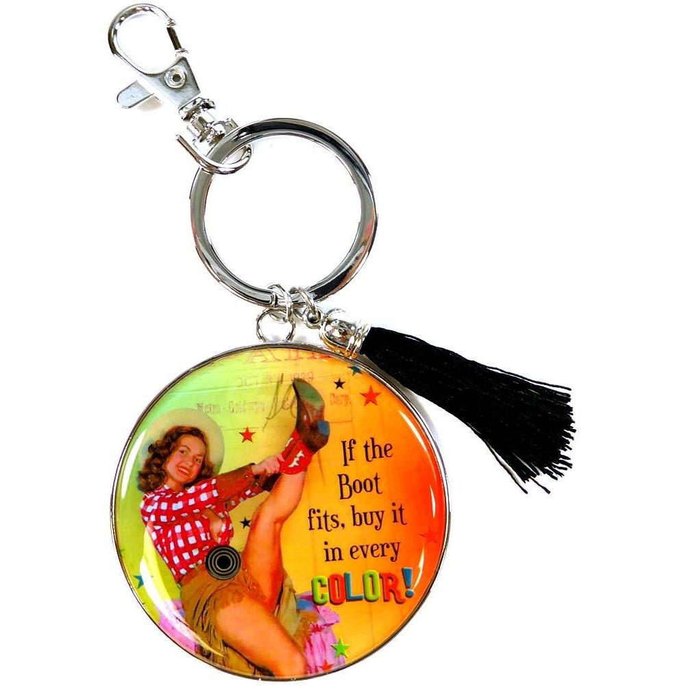 Humorous Key Chain by Shari Jenkins - If the boot fits, buy it in every color