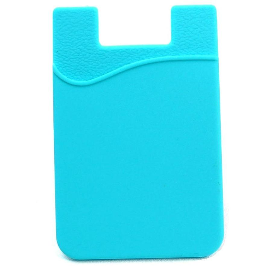 Silicone Cell Phone Card Sleeve - Aqua