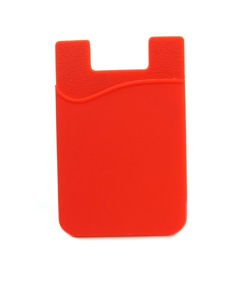 Silicone Cell Phone Card Sleeve - Red