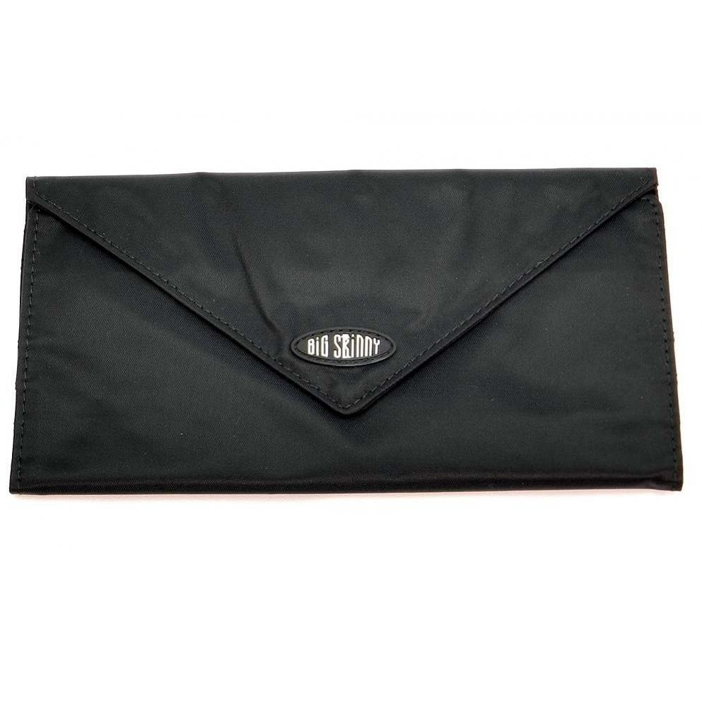 Big Skinny Slimvelope - Black - Checkbook Tri-Fold Wallet with zippered pocket