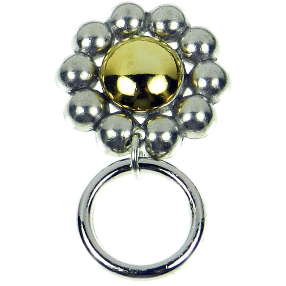 The Smart Pin - Daisy - Antique Silver and Gold Tone Magnetic Eyeglass Pin