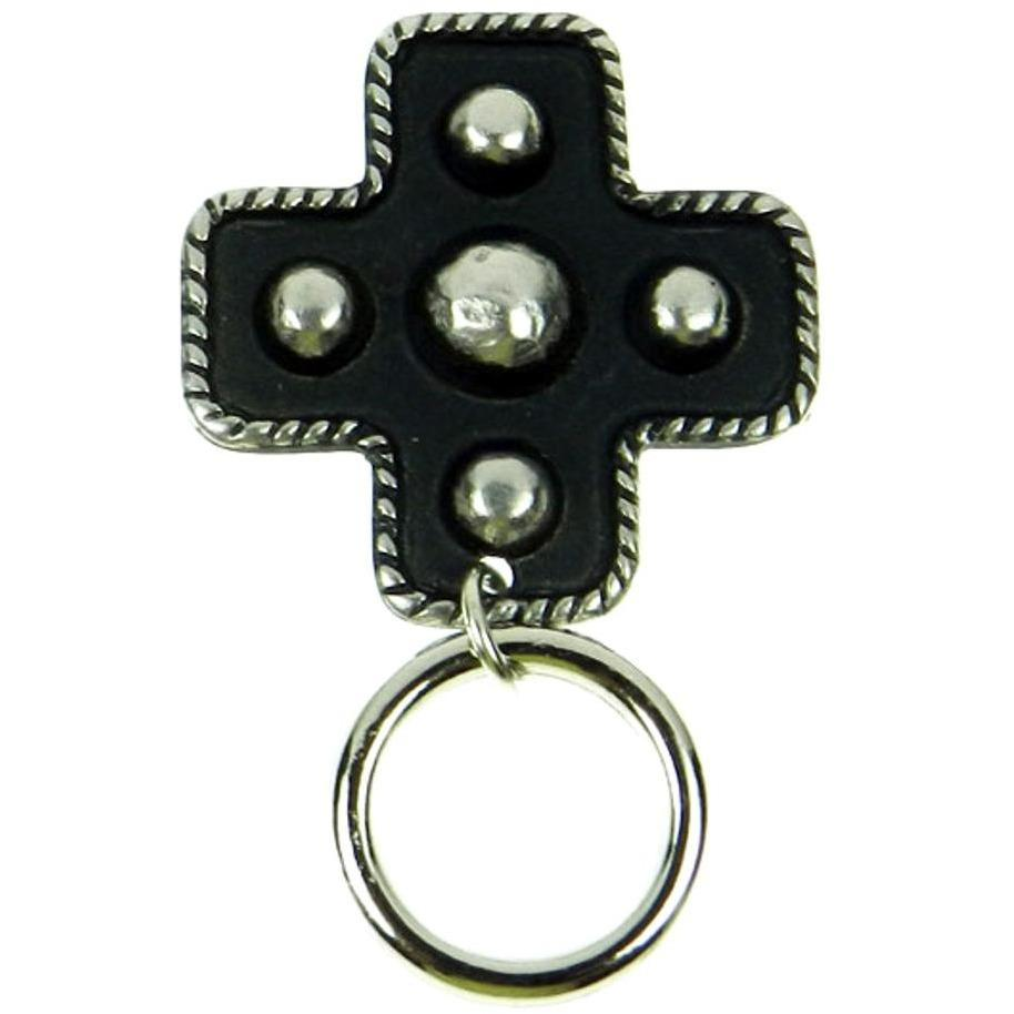 The Smart Pin - Rope Rim Cross - Antique Silver Tone Magnetic Eyeglass Pin