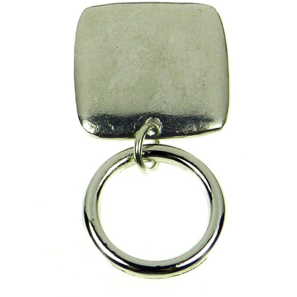 The Smart Pin - Silver Square - Silver Tone Magnetic Eyeglass Pin