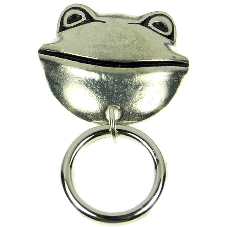 The Smart Pin - Smiling Frog - Silver Tone Magnetic Eyeglass Pin