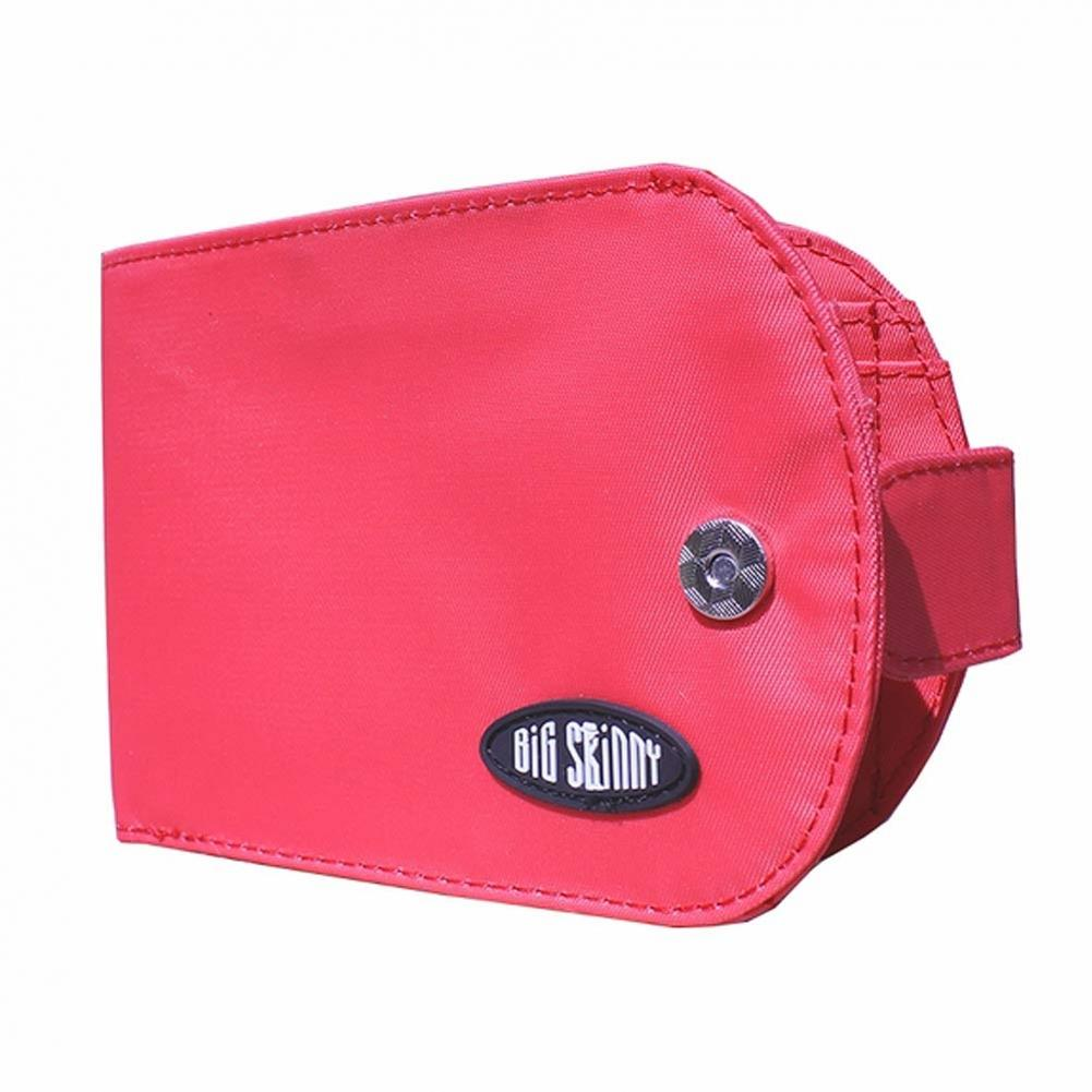 Big Skinny Taxicat Bi-Fold Wallet - RFID BLOCKING - Coral Pink