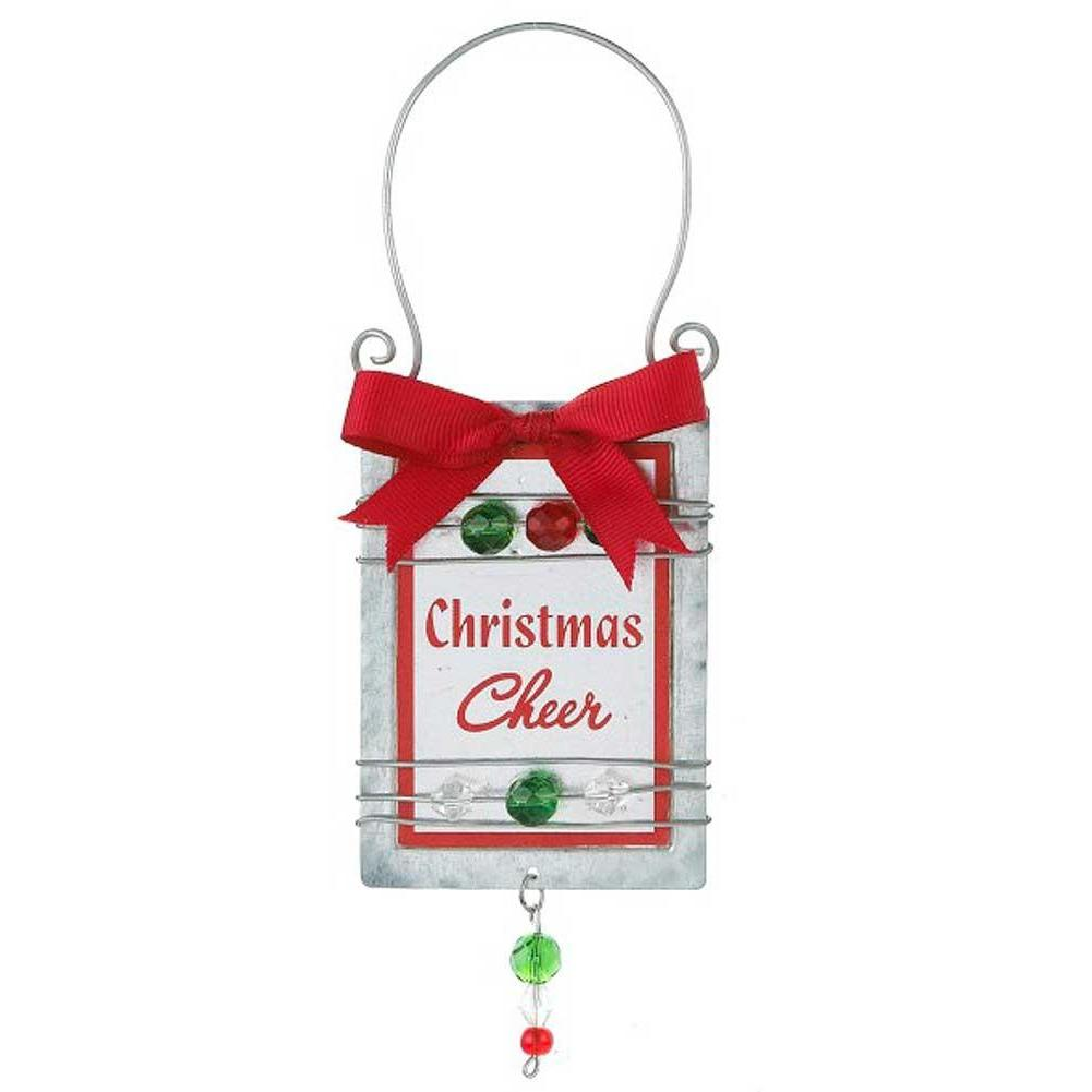 Wine Bottle Holiday Message Tags - Christmas Cheer