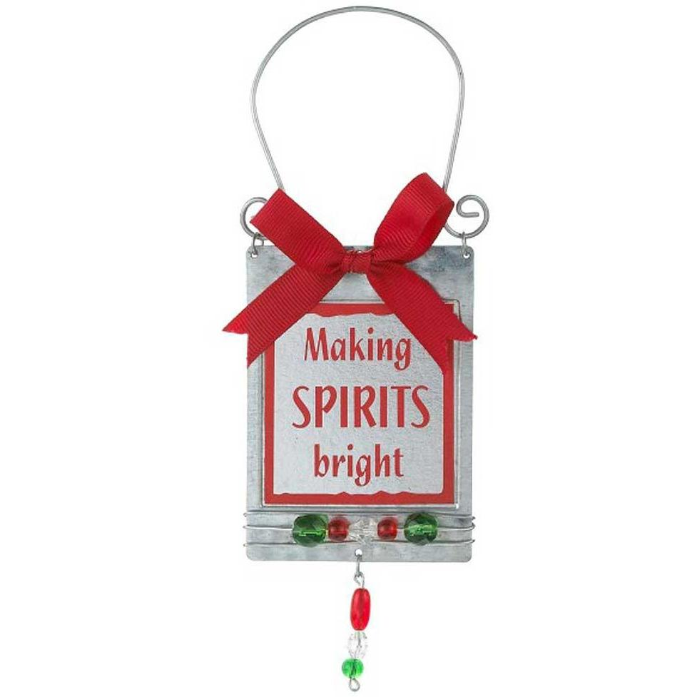 Wine Bottle Holiday Message Tags - Making Spirits Bright