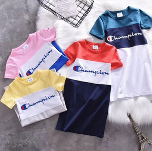 Champion Knit T-Shirts Dress Original (Girls)