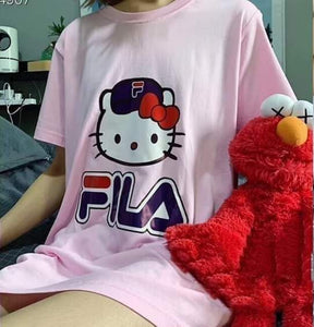 FILA Hello Kitty T-Shirt - Pink