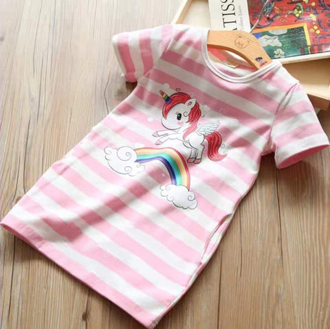 Unicorn Dress Pink (Girls)