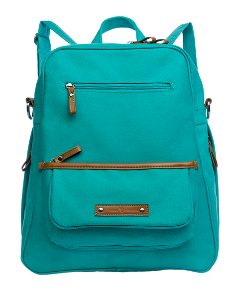 M.O.T.G Convertible Backpack- Coastal Teal