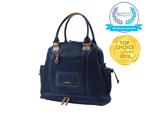 Sail Away Satchel - Nautical Navy
