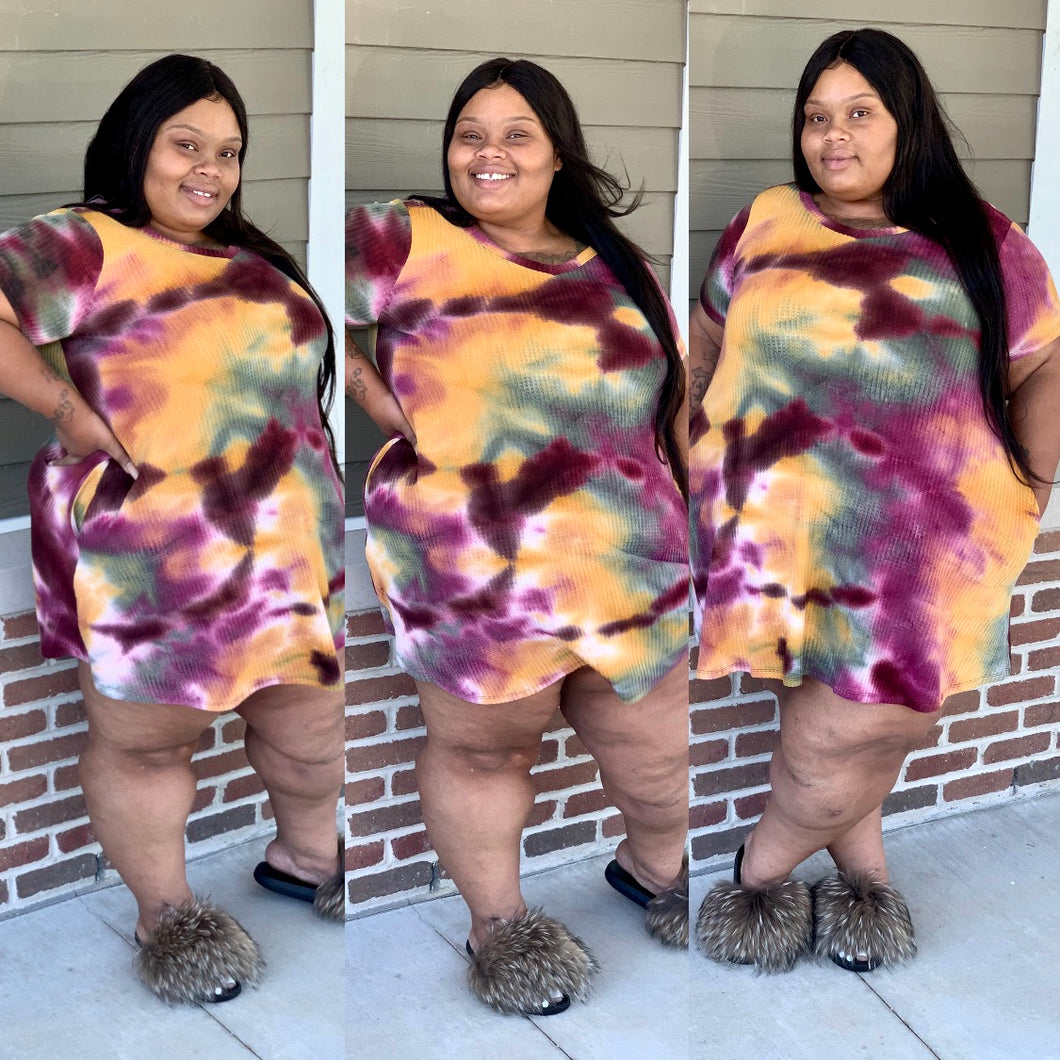 Tie Dye Light Knit Dress
