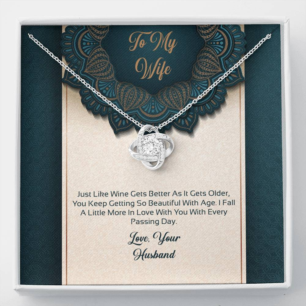 JUST LIKE WINE - TO MY WIFE - LOVE KNOT NECKLACE - U Shop V Ship