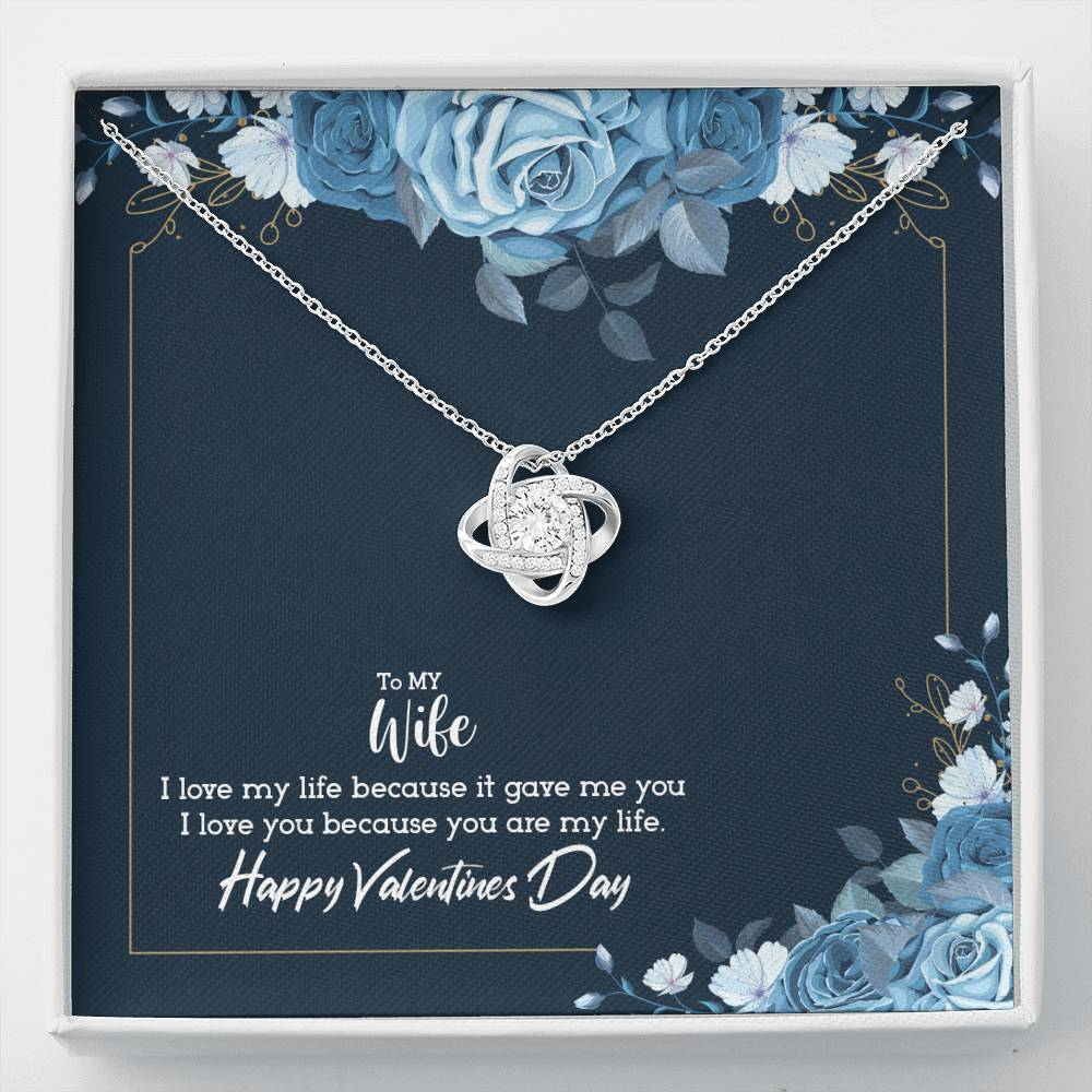 HAPPY VALENTINES - YOU ARE MY LIFE - KNOT NECKLACE - U Shop V Ship