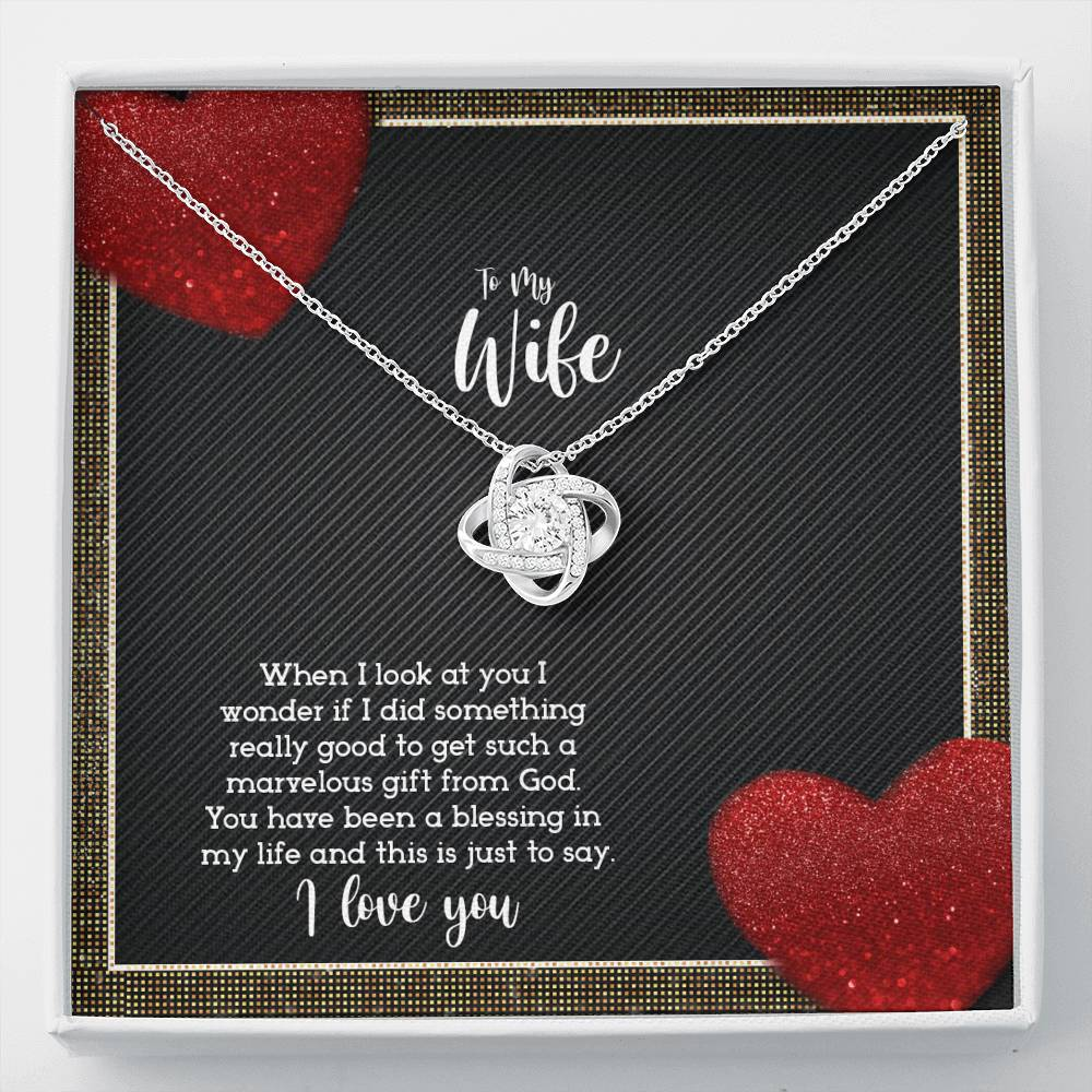 TO MY WIFE - JUST TO SAY I LOVE YOU - KNOT NECKLACE - U Shop V Ship