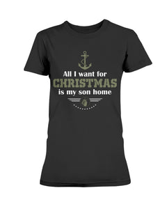 ALL I WANT IS MY SON HOME - NAVY LOGO - U Shop V Ship