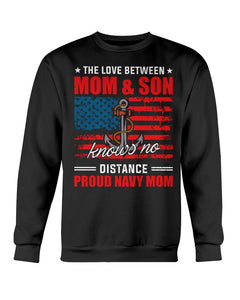 MOM & SON KNOWS NO DISTANCE - PROUD NAVY MOM - U Shop V Ship