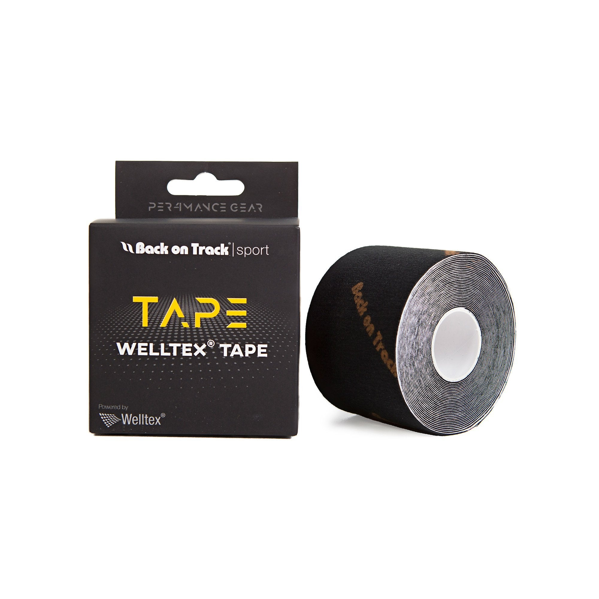 P4G Welltex Tape, Svart 5m - Back on Track Sverige (5300124287131)