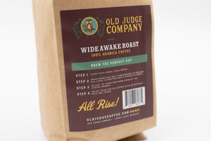 Old Judge Coffee: Wide Awake Roast (Dark Roast, Whole Bean)