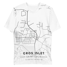 Load image into Gallery viewer, Men's Gros Islet Map T-shirt