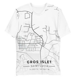 Men's Gros Islet Map T-shirt