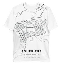 Load image into Gallery viewer, Men's Soufriere Map T-shirt