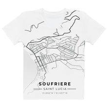 Load image into Gallery viewer, Women's Soufriere Map T-shirt