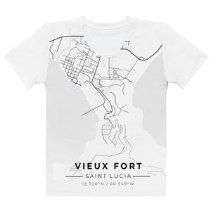 Women's Vieux Fort Map T-shirt