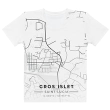 Load image into Gallery viewer, Women's Gros Islet Map T-shirt