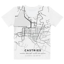 Load image into Gallery viewer, Women's Castries Map T-shirt