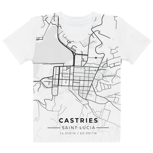 Women's Castries Map T-shirt