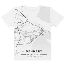 Load image into Gallery viewer, Women's Dennery Map T-shirt