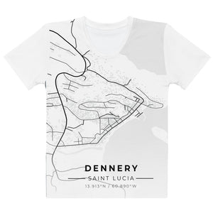 Women's Dennery Map T-shirt