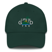 "Load image into Gallery viewer, ""LIFE IS GOOD"" Dad Hat (Dark)"