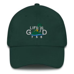 """LIFE IS GOOD"" Dad Hat (Dark)"