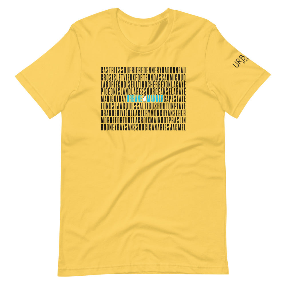 St.Lucia Area (Yellow) T-Shirt
